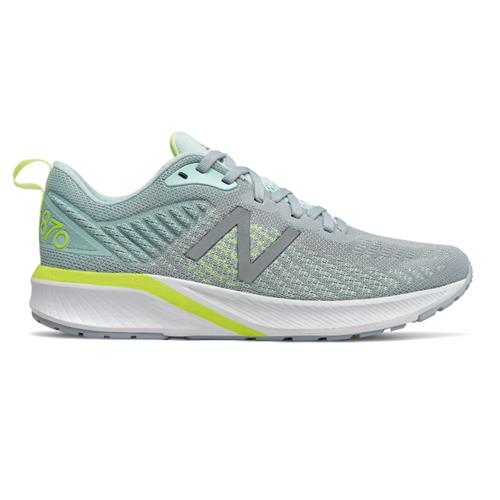 New Balance 870v5 Women's Running Shoe Light Slate with Bali Blue W870SB5