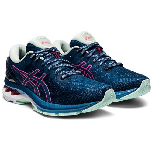 Asics Gel Kayano 27 Women's Running Shoe Mako Blue Hot Pink 1012A649 400