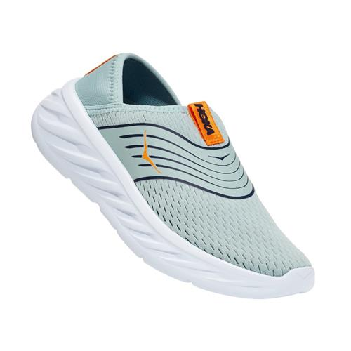 Hoka One One Ora Recovery Shoe Womens Blue Haze Bright Marigold 1099678 BHBM