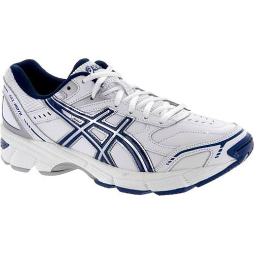 Asics Gel 180 TR Men's Cross Training Shoe Wide 4E White Navy Silver S305L 0150