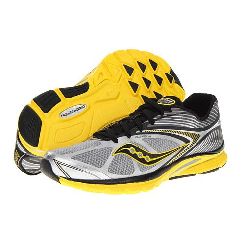 Saucony ProGrid Kinvara 4 Men's Running Gray Yellow Black 20197-5
