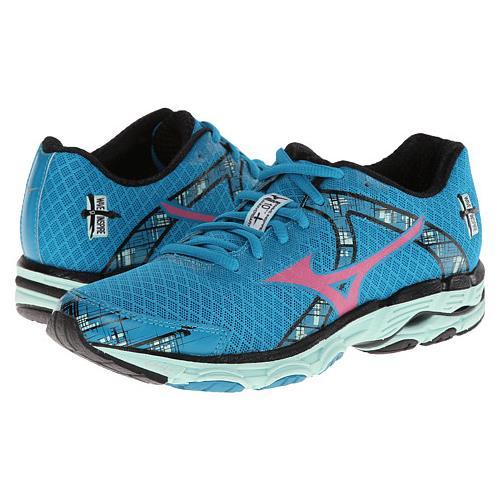 Mizuno Wave Inspire 10 Women's Running Caribbean Sea Shocking Pink Honeydew 410575.5K1M
