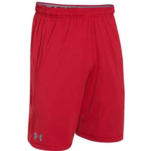 free shipping 795d8 66deb eFootwear - Under Armour Men s Raid Shorts Red, Steel 1253527-600