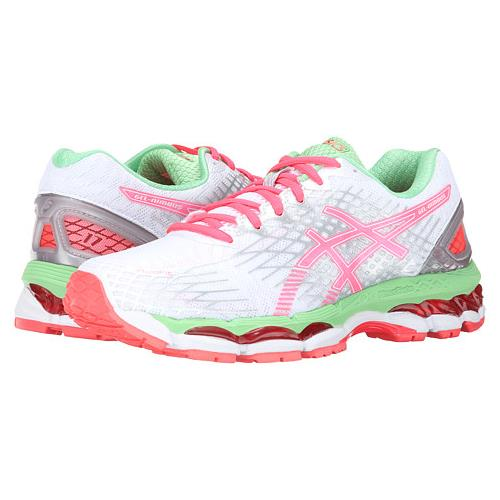 Asics Gel Nimbus 17 Womens Running Shoe White Hot Coral Apple T557N 0123