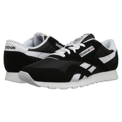 reebok classic nylon black and white