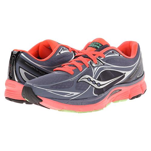 Womens Shoes Saucony Mirage 5 Grey/Vizicoral/Green