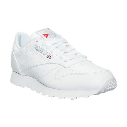 Mens Reebok Classics in White Leather