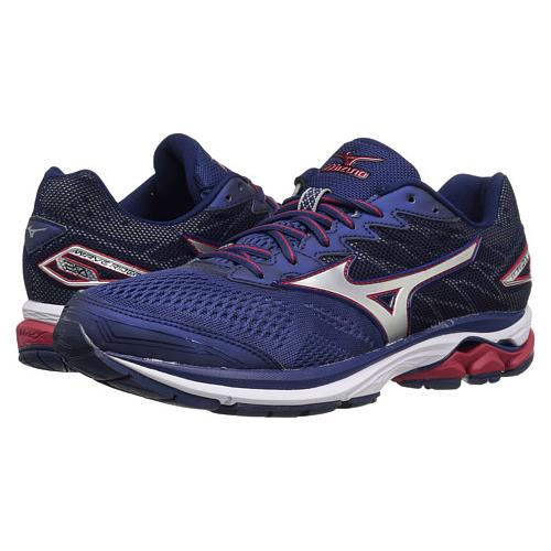 Mizuno Wave Rider 20 Mens Blue Depths/Silver/Chinese Red E94391CI Shoes