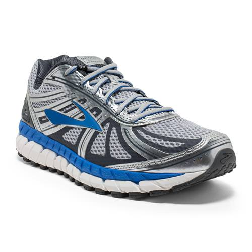 Brooks Beast '16 Men's Running Wide 4E Silver Electric Brooks Blue Ebony 1102274E005