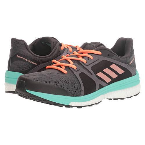 Adidas Supernova Sequence 9 Women's Running Shoe Utility Black,Tech Rust,  Easy Green BB1618