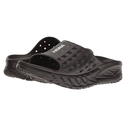 Hoka One One Ora Recovery Slide Womens Black Anthracite 1014865 BANT