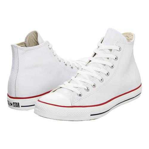 f0fcb0a6a1f5 Converse Chuck Taylor All Star Hi Leather White 132169C