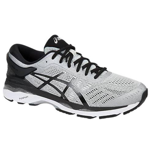 Asics Gel Kayano 24 Men's Running Shoe Wide 4E Silver, Black, Mid Grey  T7A1N 9390