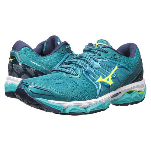 Mizuno Wave Horizon Women's Running Tile Blue Soft Yellow Peacoat 410874.5930