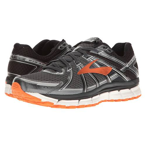 Brooks Adrenaline GTS 17 Men's Running Black, Anthracite, Red Orange  1102411D024