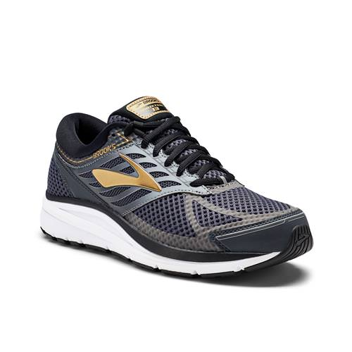 Brooks Addiction 13 Men's Running Wide 4E Black Ebony Metallic Gold 1102614E091