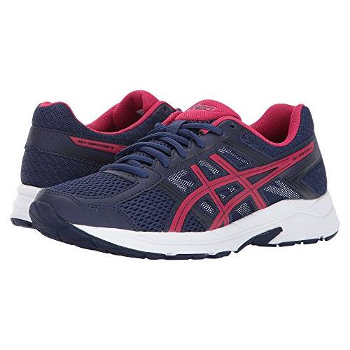 Asics GEL Contend 4 Women's Running Shoe Indigo Blue Pink Black T765N 4920