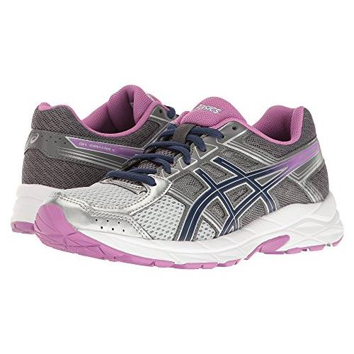 Asics GEL Contend 4 Women s Wide D Running Shoe Silver 4609e8bd965e