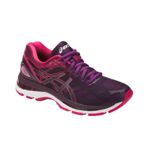 Asics Gel Nimbus 19 Women's Running Shoe Black, Cosmo Pink, Winter Bloom  T750N 9020