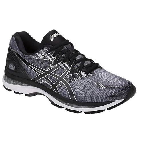 Asics Gel Nimbus 20 Mens Running Shoe Carbon Black Silver T800n 9790
