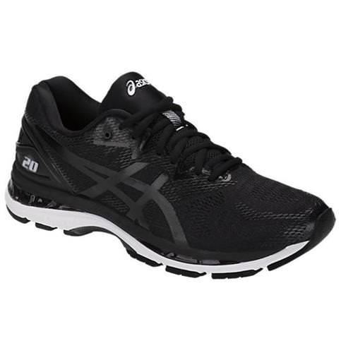 pellizco vía Educación  Asics Gel Nimbus 20 Men's Running Shoe Wide 4E Black, White, Carbon T802N  9001