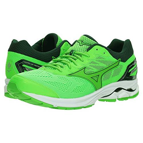 5808be403ed7 Mizuno Wave Rider 21 Men's Running Green Slime, Green Gecko, Botanical  Green 410972.4Z4W