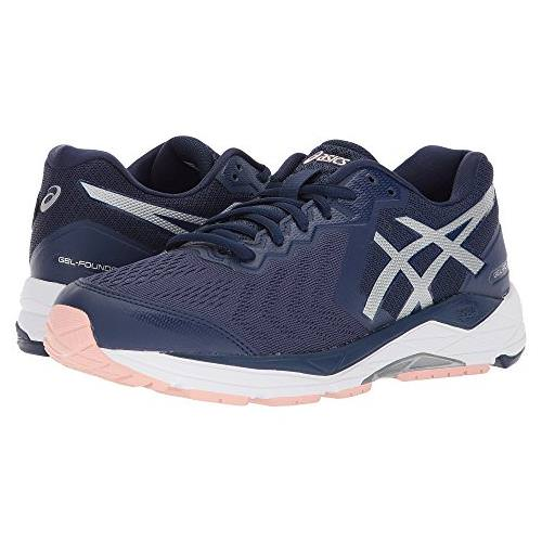 f5d870e73c707 Asics Gel Foundation 13 Women's Running Shoe Indigo Blue, Silver, Seashell  Pink T863N 4993