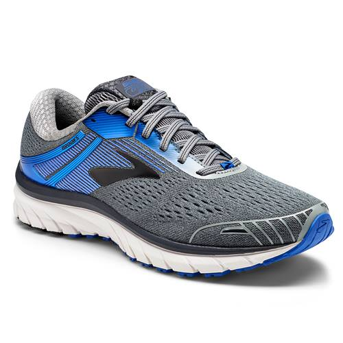Brooks Adrenaline GTS 18 Men's Running Wide 4E Grey Blue Black 1102714E015