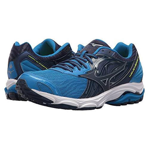 blue mizuno running shoes