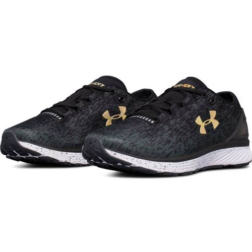 Under Armour Charged Bandit 3 Ombre Women's Running Shoe Black Anthracite Tile Blue 3020120-001