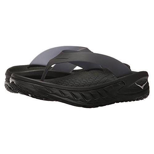 Hoka One One Ora Recovery Flip Womens Black Anthracite 1018353 BLK