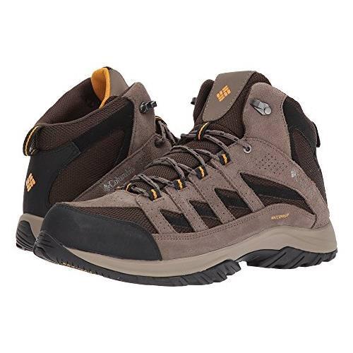 Columbia Crestwood Mid Waterproof Mens Hiker Cordovan Squash 1765381 231