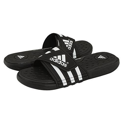 Adidas Adissage Cloudfoam Slides Mens in Black White G19102