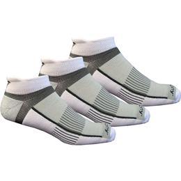 Saucony M22170 019 Inferno No Show Black White 3-Pack Socks Size L