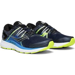 Saucony Omni ISO Men's Running Shoe Navy, Blue, Citron S20442-1