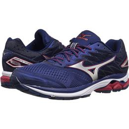 Mizuno Wave Rider 20 Men's Running Blue Depths, Silver, Chinese Red 410865.6G73