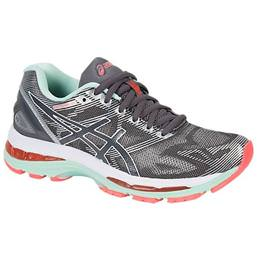 Asics Gel Nimbus 19 Women's Running Shoe Carbon, White, Flash Coral T750N 9701