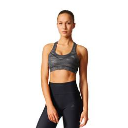 Adidas Women's TechFit Padded Sports Bra Black Print AK0238