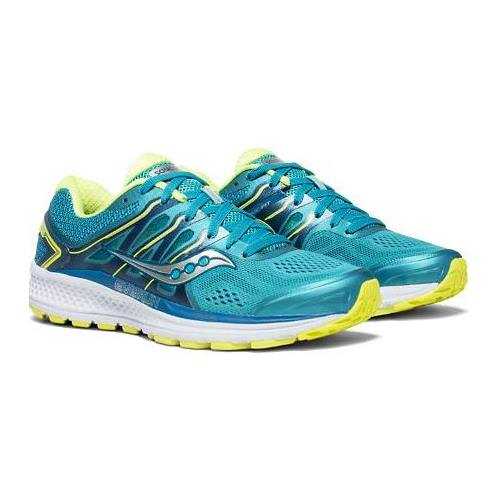 Saucony Omni 16 Women's Running Shoe Teal, Citron S10370-4