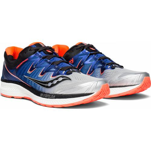 Saucony Triumph ISO 4 Men's Silver, Blue, ViZi Red S20413-35