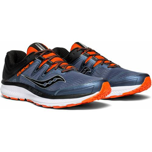 Saucony Guide ISO Men's Running Shoe Grey, Black, Orange S20415-5