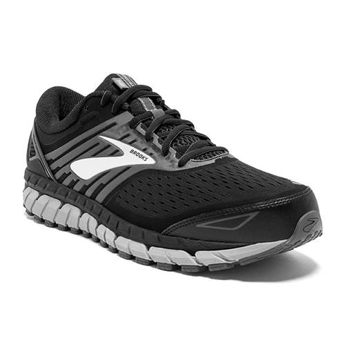 Brooks Beast '18 Men's Running Wide 4E Black, Grey, Silver 1102824E004