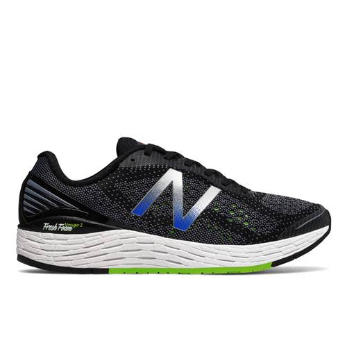 New Balance Fresh Foam Vongo v2 Men's Running Shoe Black, Energy Lime, Vivid Cobalt MVNGOBB2
