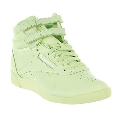 Reebok Freestyle Hi Colors Lime Glow, White BS9369