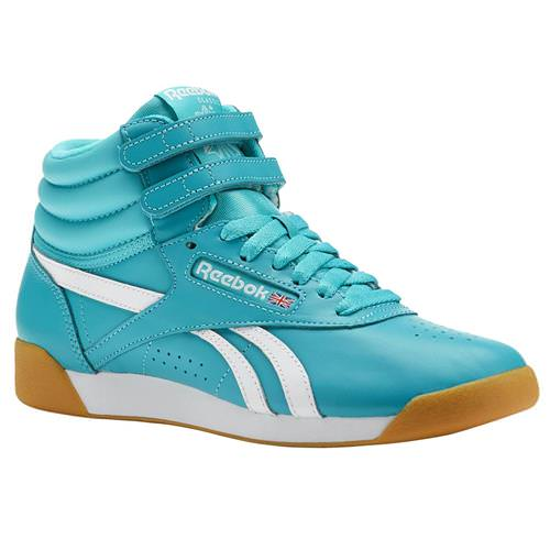 Reebok Freestyle Hi SU Solid Teal, White, Gum CN7149