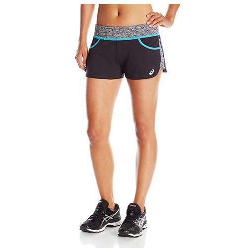 Asics Womens Morgan Shorty Black, Teal BV2696.9048