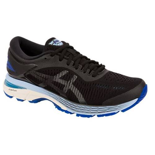 Asics Gel Kayano 25 Women's Running Shoe Black, Asics Blue 1012A026 001
