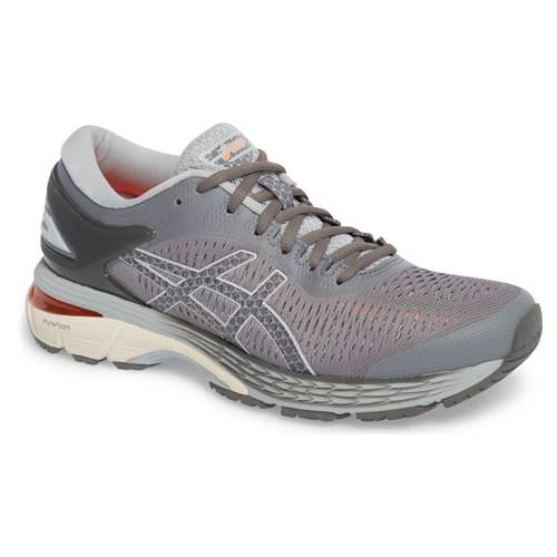 Asics Gel Kayano 25 Women's Running Shoe Wide D Carbon, Mid Grey 1012A032 020