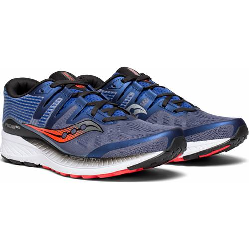 Saucony Ride ISO Men's Running Grey, blue, ViZi Red S20444-3