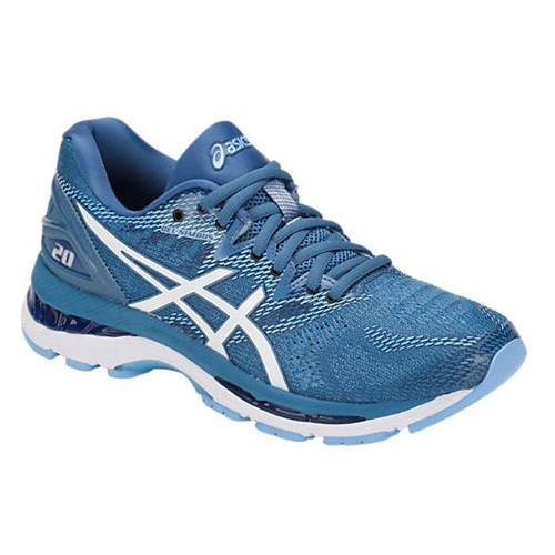 Asics Gel Nimbus 20 Women's Running Shoe Azure, White T850N 401